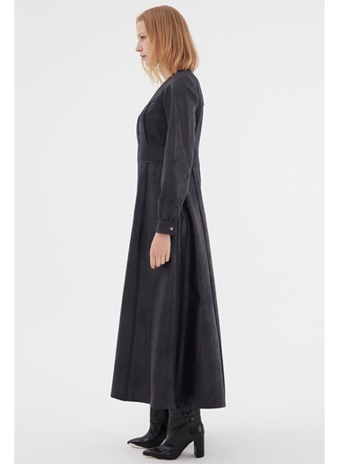 Vivencia Suni Deri Kadın Elbise  Lacivert